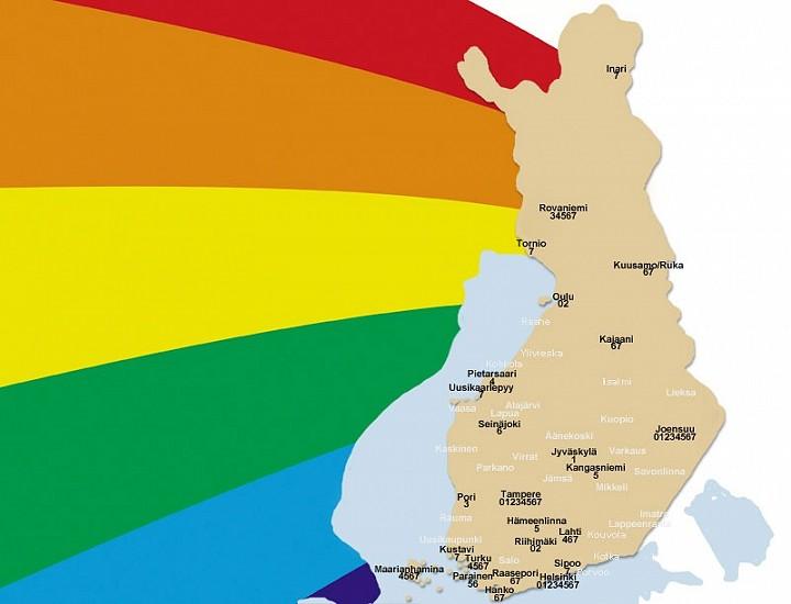 Suomen Pride Kartalla Paljon Tapahtumia 2010 Luvulla Kaakossa Ja