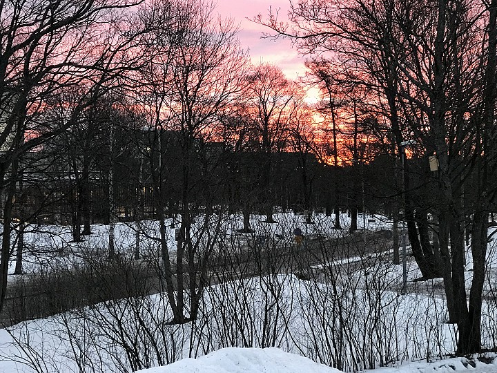 Kymmenen minuuttia ennen auringonnousua.