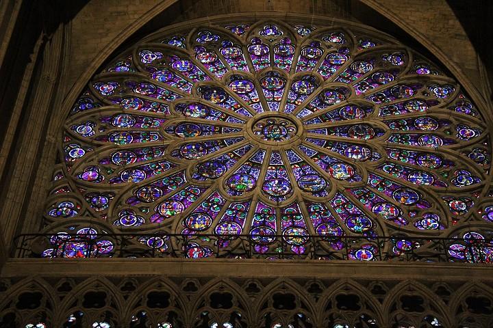 Yksityiskohta Notre Damen katedraalista (kevät 2015)