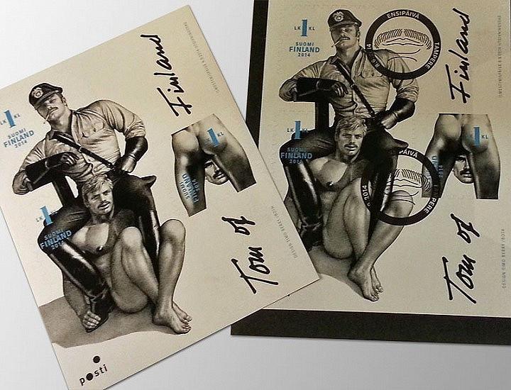 Suomen Posti julkaisi Tom of Finland -postimerkkejä. Alkuun asiasta nousi kohu, mutta se laantui nopeasti. ToF-kuvastoa on sittemmin liitetty myös osaksi virallista Suomi-kuvaa.