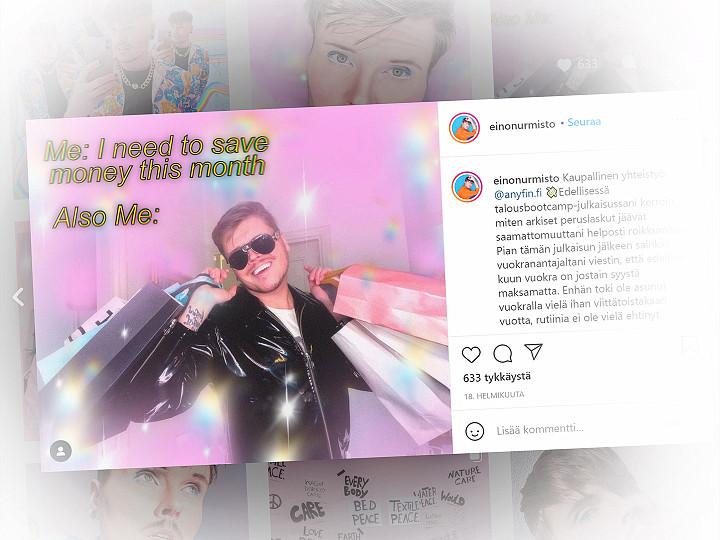 Kuvakaappaus Instagram-postauksesta