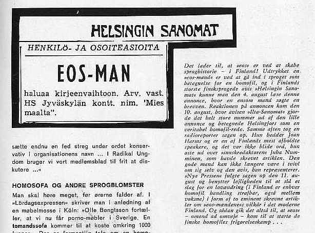 Uutinen Suomesta
